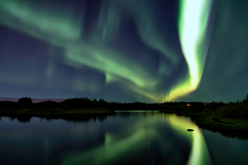 Northern lights over Ellidavatn