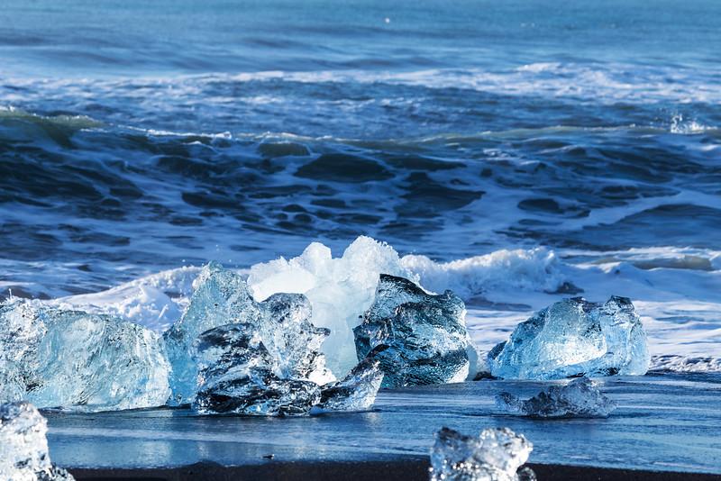Blue ice melting
