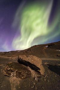 Auroras blazing overhead