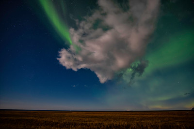 Northern Lights over iceland