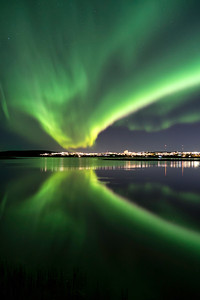 Reykjavik auroras
