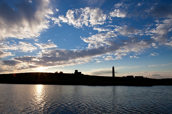 Devenish Island at sunset