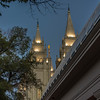Mormon Tabernacle and Temple at Dusk-Fred Fost