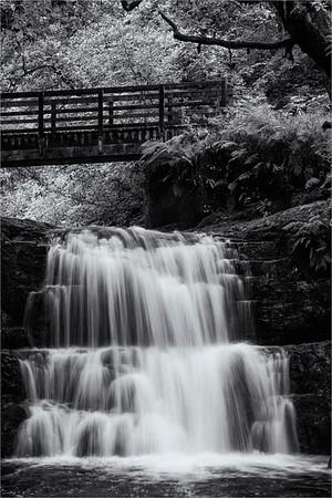 Sychryd Falls Monochrome