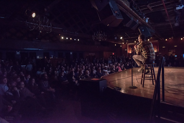 Jon Glaser,  performing comedy at Brooklyn's Bell House