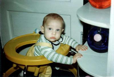 Sean in his walker
