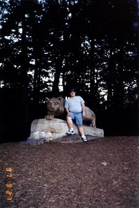 Sean and the Penn State Lion