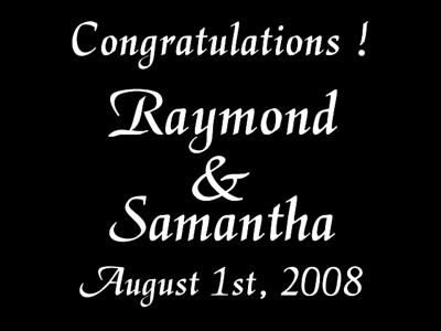 RAY & SAMANTHA 3