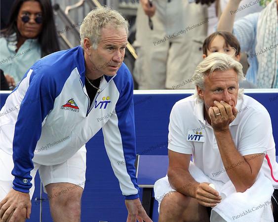 John McEnroe and Björn Borg 2011