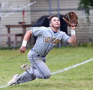 Outstanding long run catch by East Meadow's Joe Minucci on May 21, 2016.
