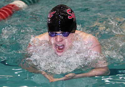 Greg Ragin, a senior from Syosset takes first place in the Boys 200 Yard IM Division B race with a time of 2:06.75