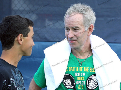 John McEnroe and Noah Rubin New York - July 14, 2011