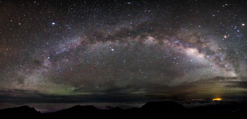 Milky Way Galaxay over Hawaii from Haleakala