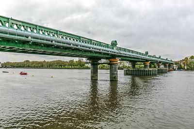 Along the bridge