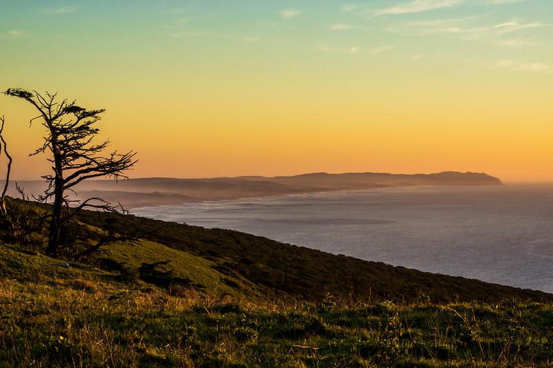 Pt Reyes sunset,  Point Reyes National Seashore,  CA  Sept 2016
