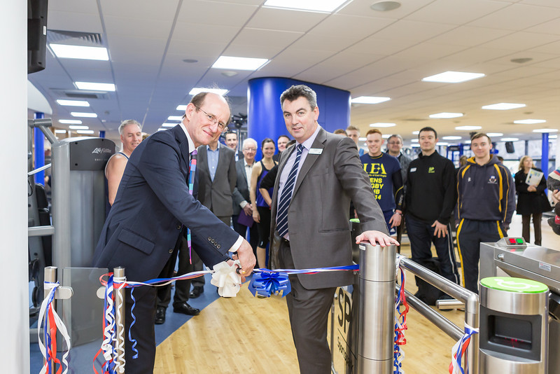 UEA Vice-Chancellor Edward Acton opening the new Gym facilities at Sportspark