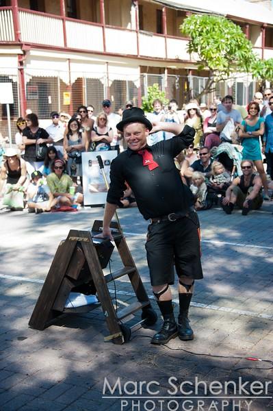 Fremantle Street Arts Festival, posing for photographer