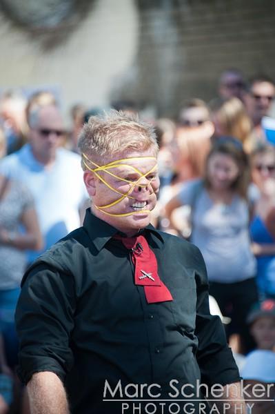 Rubber band man, Fremantle Street Arts Festival