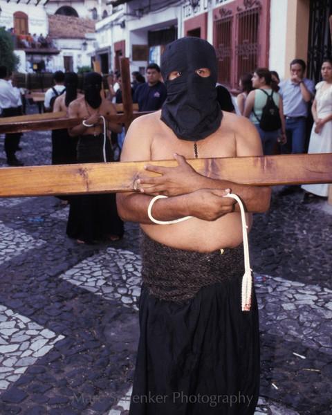 Suffering for Christ. Semana Santa. Taxco, Guerrero, 2003