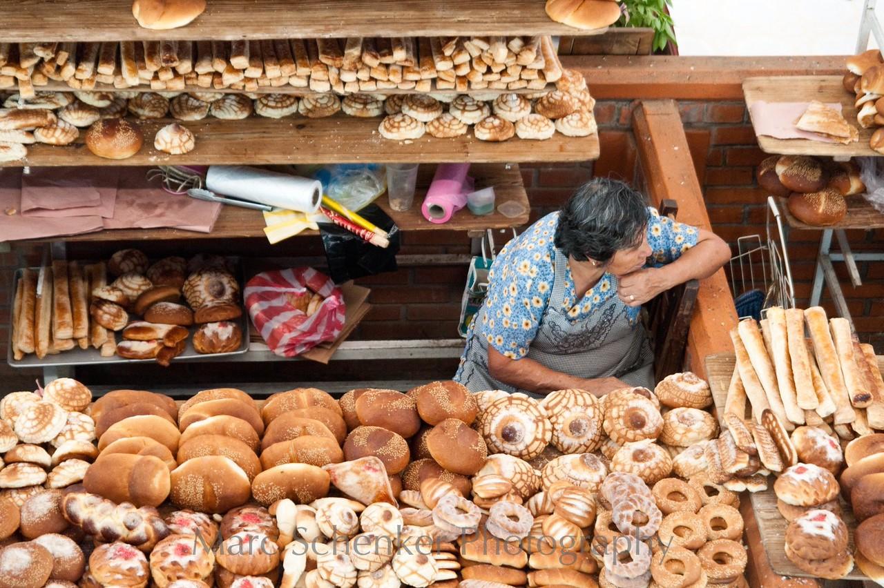 Roscas, molletes y conchas, Zaachila, Oaxaca 2009