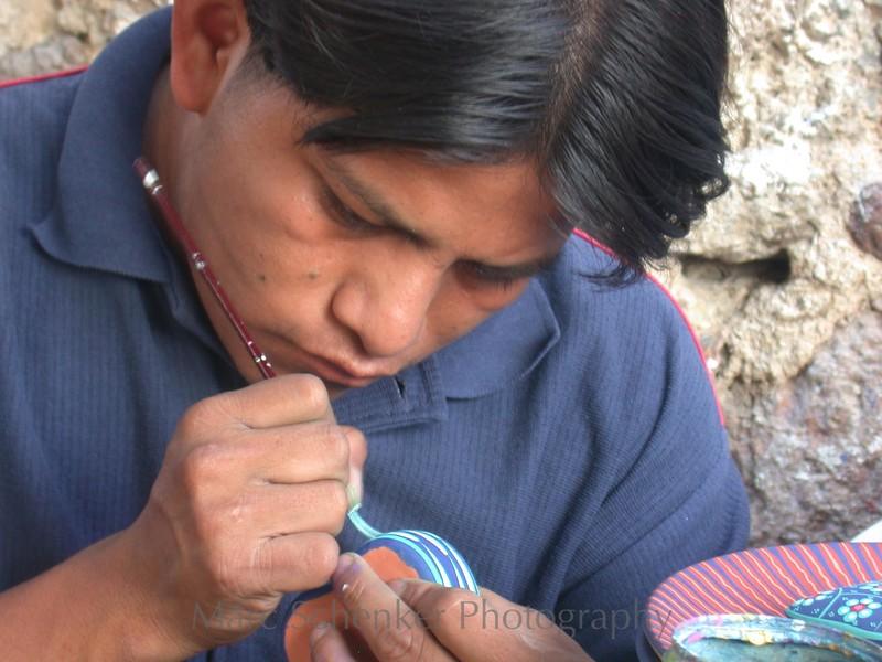 Blue on blue, Patzcuaro, Michoacan, 2004