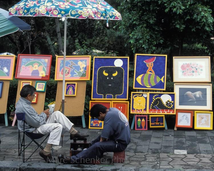 Es el toro enamorado de la luna, San Angel, Mexico City.