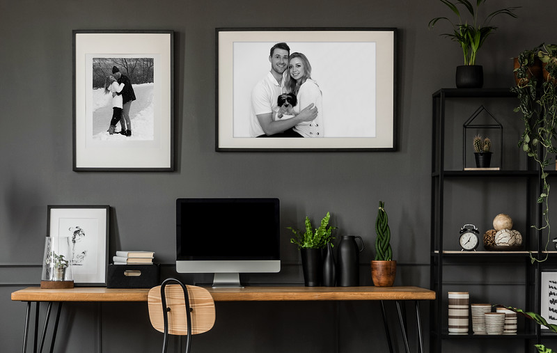 FRAMED PORTRAITS IN OFFICE SPACE