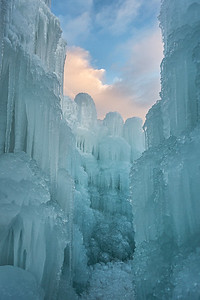 Ice Castle Sunset