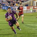 San Francisco vs Denver in a US PRO (Professional Rugby Organization) Rugby League game.  Final score of the game was Denver - 41 and San Francisco - 37