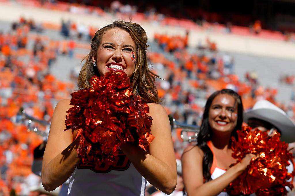 The Oklahoma State University Cowboys vs the Iowa State Cyclones in NCAA Football In Boone Pickens Stadium on October 8, 2016. Photos by Mitchell Alcala