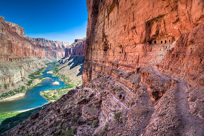 Granaries above the Colorado River in the Grand Canyon used to store food around 1100 AD