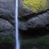 A waterfall in the Columbia Gorge of Oregon.