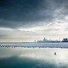 Montrose Pier Winter Skyline