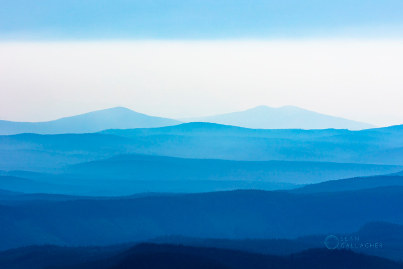 Hazy Hills in Blue