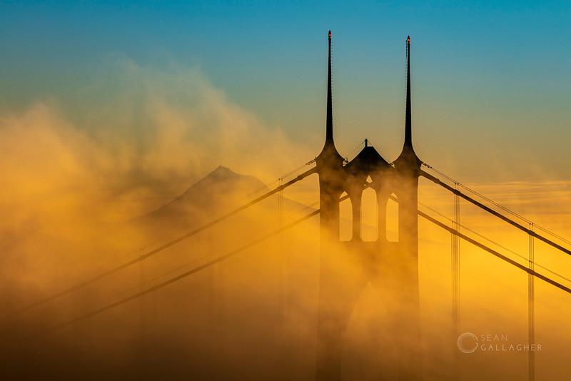 St. Johns Bridge Foggy Sunrise