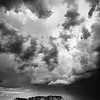 Sedona Storm in Black and White