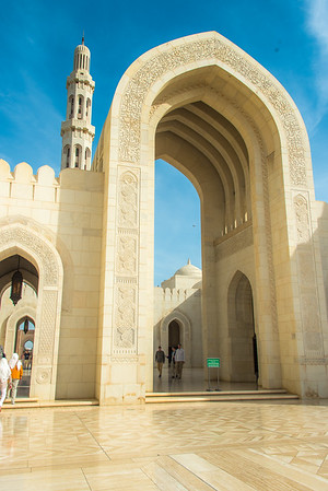Sultan Qaboos Grand Mosque is the main mosque in the Sultanate of Oman, located in the capital city of Muscat