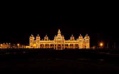 Mysore Palace, in the city of Mysore in Karnataka captured with its 2 mins glittering lights.