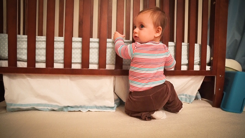47 weeks - pulls herself up