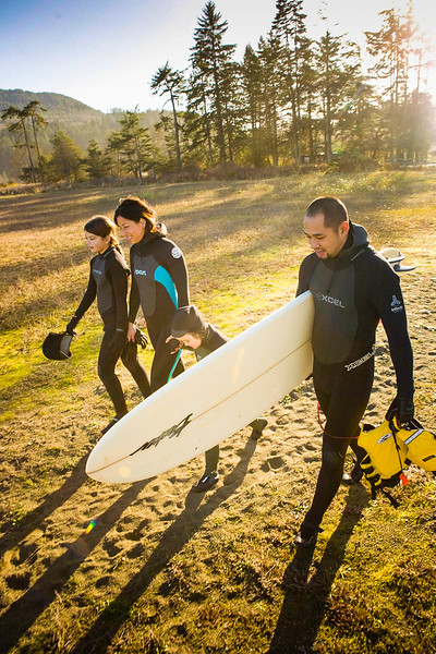Family surf day, for Family Fun Magazine