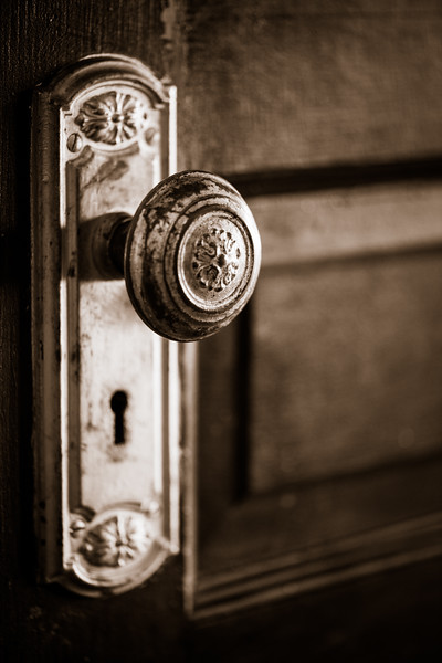 Sepia Doorknob 2