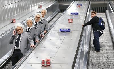 The Einstein Quartet - A string quartet disguised as physicist Albert Einstein, London, UK, 19th April 2017