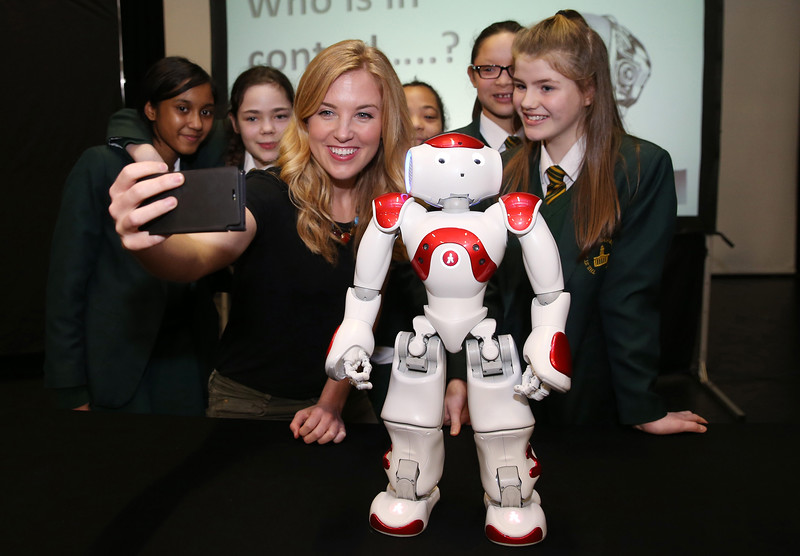 YouTube star and TV presenter, Maddie Moate at the launch of the 12th annual BAE Systems, Royal Airforce and Royal Navy Schools Science Roadshow at St Marylebone CE School.