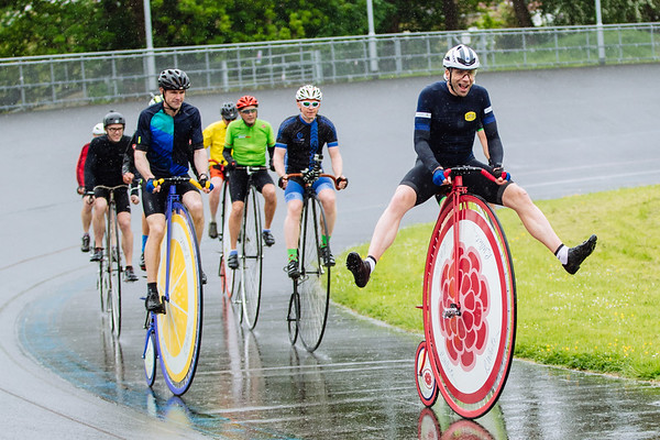 Record-breaking long-distance cyclist Mark Beaumont prepares to take on the R.Whiteís Lemonade Penny Farthing One Hour World Record next month at the World Cycling Revival festival, London, UK, 5th April 2018