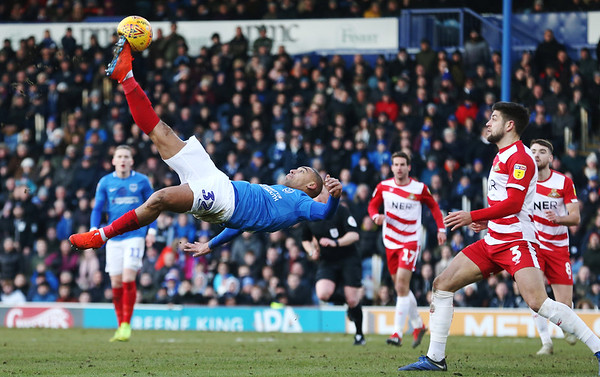 Portsmouth v Doncaster Rovers Sky Bet League 1 2/02/2019.