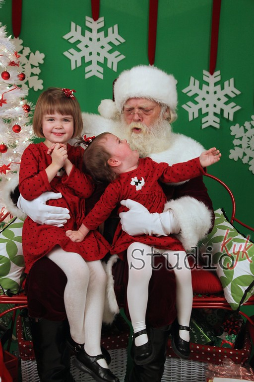 Q: are you planning on doing Santa pics this year? I really don't want to wait in line for 2 hrs at the mall again...  A:  Ho Ho Ho = No No NO!!! LOL  yes  every year....   details here  http://www.studiokyk.com/REALStudioKYK/REAL-Questions/REAL-info/25492425_Sk76xp#!i=2100707712&k=WQKmQJq