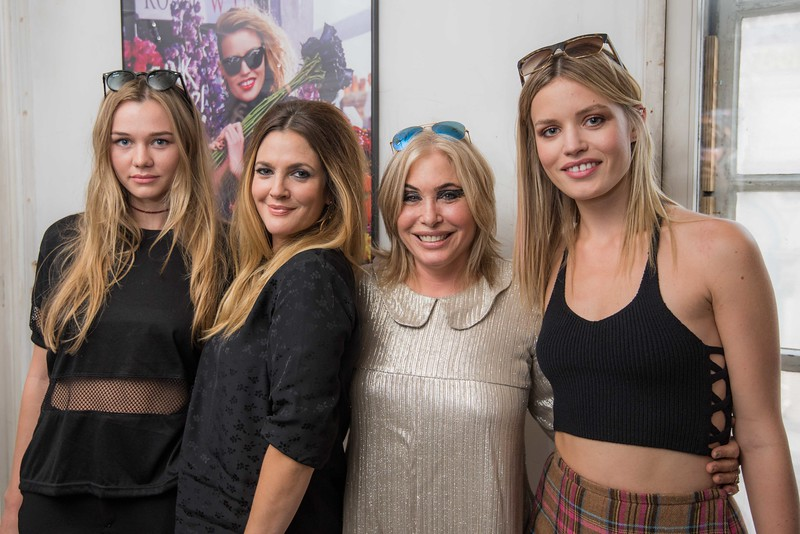 Charlotte De Carle, Drew Barrymore, Brix Smith and Georgia May Jagger at the Sunglass Hut #PunkItUP Tea Party, London Fashion Week SS16