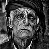 Old Kurdish man with grungy skin