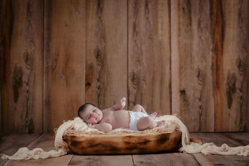 Baby in basin