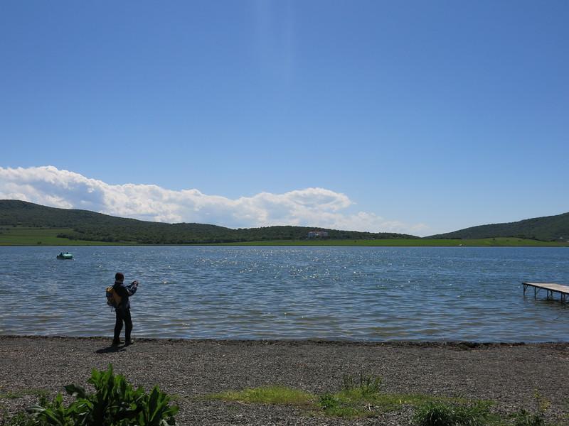 Posing at Bazaleti lake